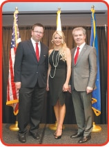 Deputy Chief of Missions Maciej Pisarski, PolandNow President Eva Nations, and Honorary Consul and PolandNow Founder Dr. Marek Pienkowski.