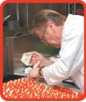Visiting master chef Edward Nowakowski preparing just one of his many Polish-inspired hors d'oeuvre for PolandNow 2013.