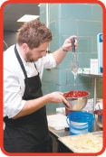 Poland's first (and only) Michelin star rated chef Wojciech Amaro prepares his culinary presentation for PolandNow 2013.