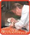 Visiting master chef Edward Nowakowski preparing just one of his many Polish-inspired hors d